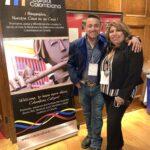 Angel Torres with Claudia Montoya, Director of Casa Cultural Colombiana